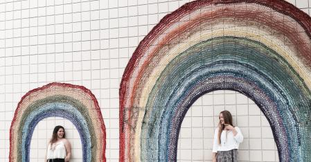 Au Pair Experiences rainbow wall