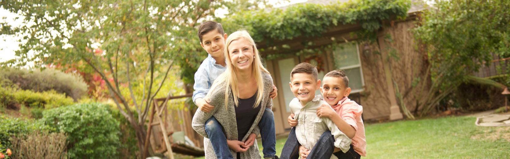 Au pair with three children