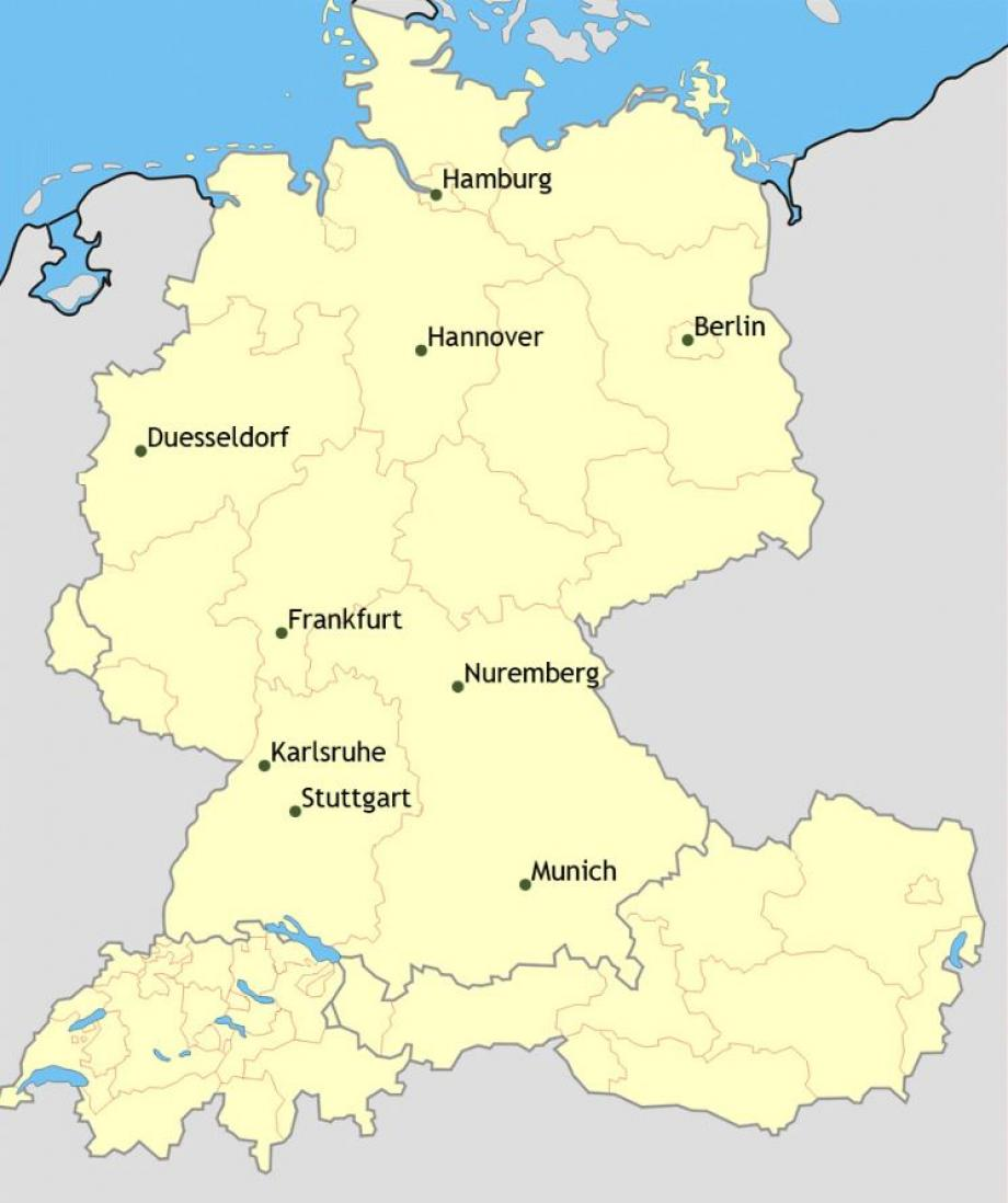 au pair germany placement map