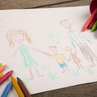 Au pair host family drawing